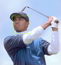Tiger Woods' face detected